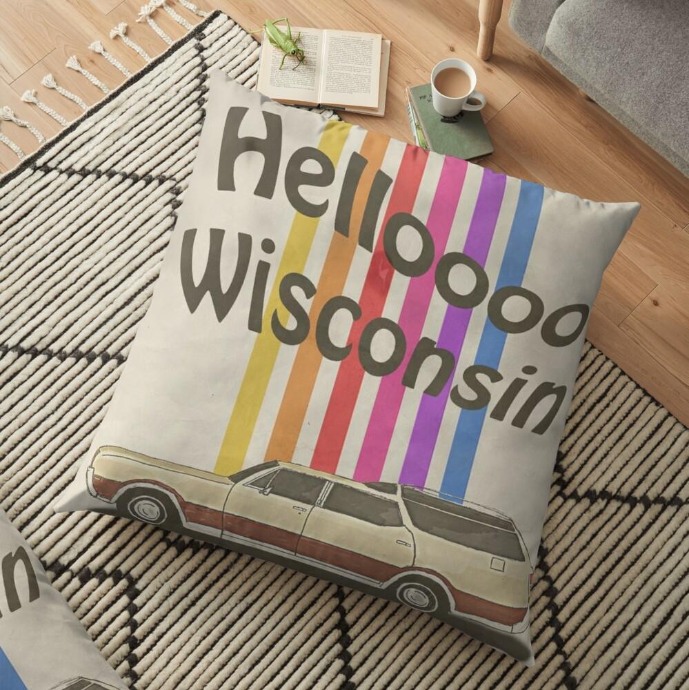 Hello Wisconsin Floor Pillow
