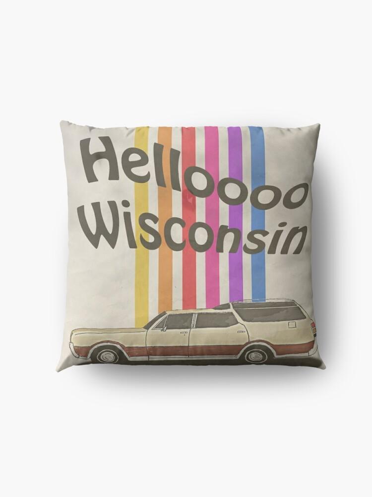 Alternate view of Hello Wisconsin Floor Pillow