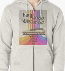 Hello Wisconsin Zipped Hoodie