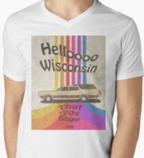 Hallo Wisconsin T-Shirt mit V-Ausschnitt