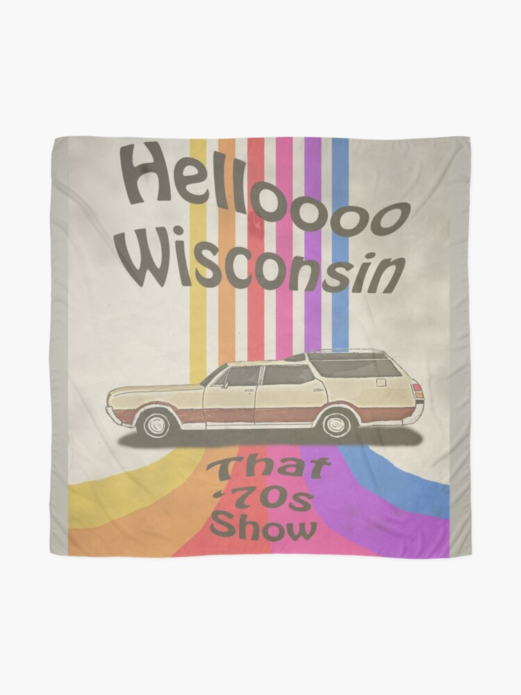 Alternate view of Hello Wisconsin Scarf