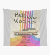 Hello Wisconsin Wall Tapestry