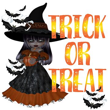 Trick or Treat Cute Halloween Witch by fairytaleworld
