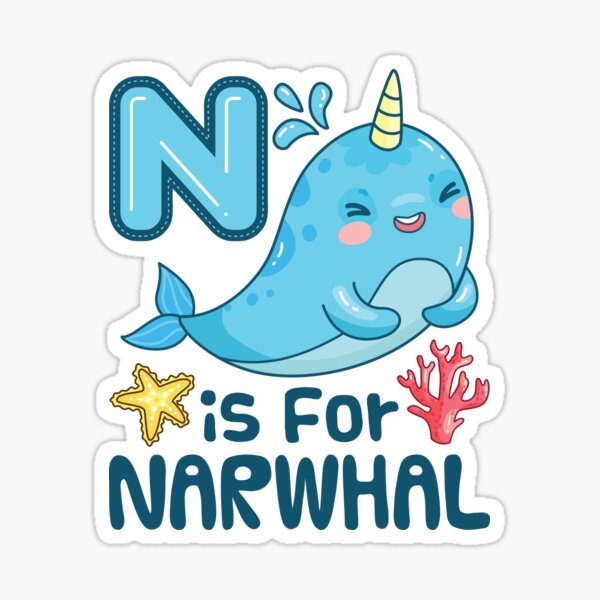 N Is For Narwhal Sticker