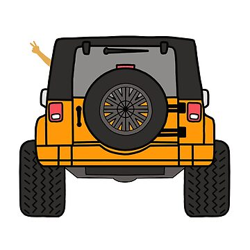 Jeep Wave Back View - Orange Jeep by indicap