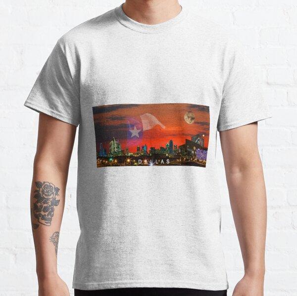 DALLAS Sunrise Skyline Supermoon and Text Classic T-Shirt