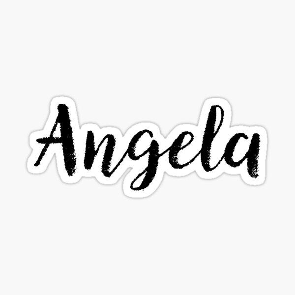 Angela - Name Stickers Tees Birthday Sticker