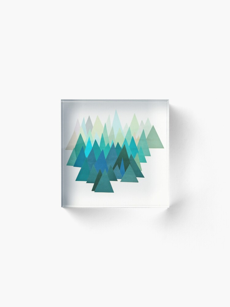 Alternate view of Cold Mountain Acrylic Block