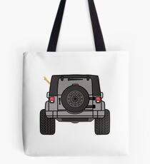 Jeep Wave Back View - Gray (Grey) Jeep Tote Bag