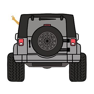 Jeep Wave Back View - Grey Jeep by indicap