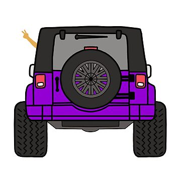 Jeep Wave Back View - Purple Jeep by indicap