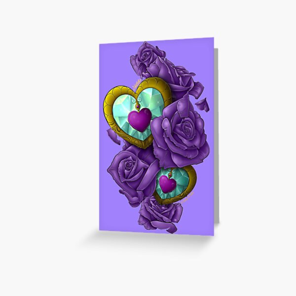 Purple Hearts & Roses Edition Greeting Card