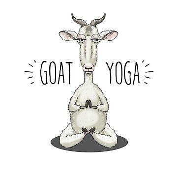 GOAT YOGA - Meditating Goat by jitterfly