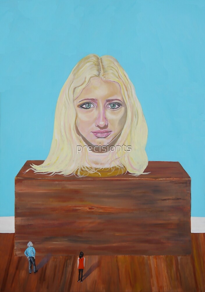 """Museum of strange things No1 """"Study of a blonde girl"""" by precisionts"""