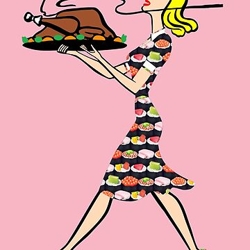 thanksgiving 1950s blonde housewife by gossiprag
