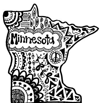 Minnesota State Zentangle by alexavec