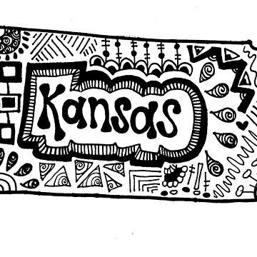 Kansas State Zentangle by alexavec