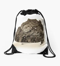 butterfly b&w Drawstring Bag