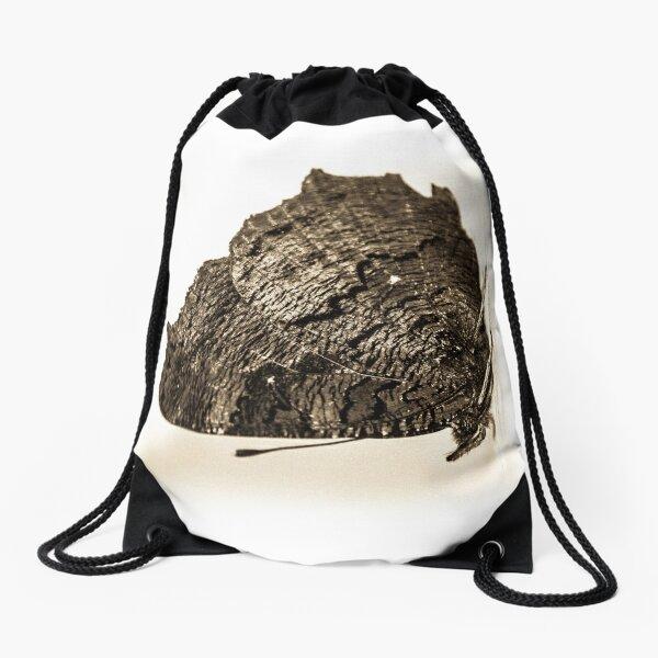 butterfly b&w Drawstring Bag