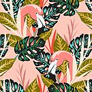 Flamingo - Pink by Janine Lecour
