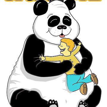 Panda Hug Me by loganferret