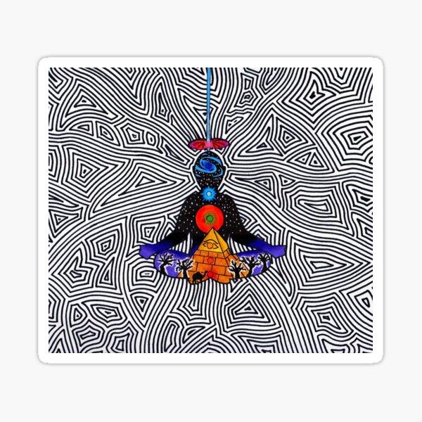 Psychedelic meditiation  Sticker