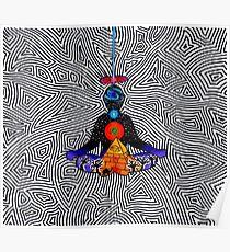 Psychedelische Meditation Poster