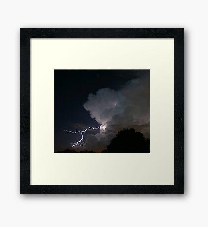 Late Evening Thunderstorm Framed Print