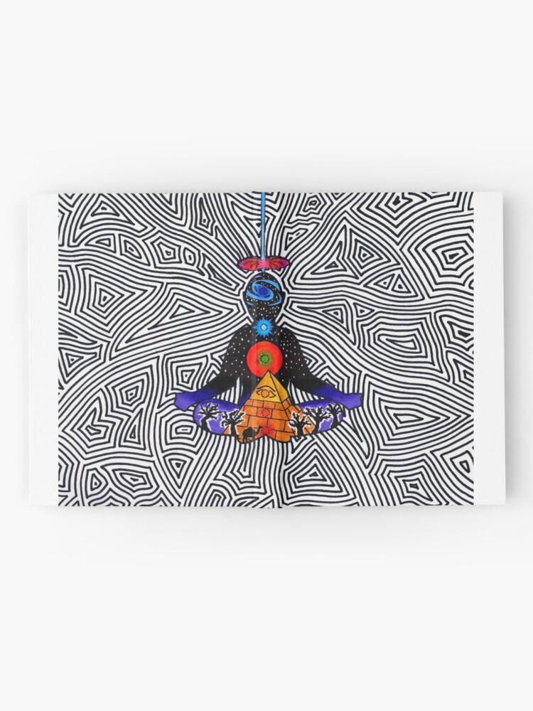 Alternative Ansicht von Psychedelische Meditation Notizbuch