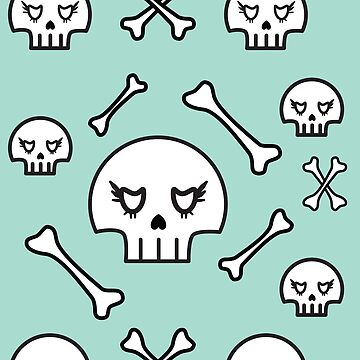 Pastel Skull and Bones by sassybeedesigns