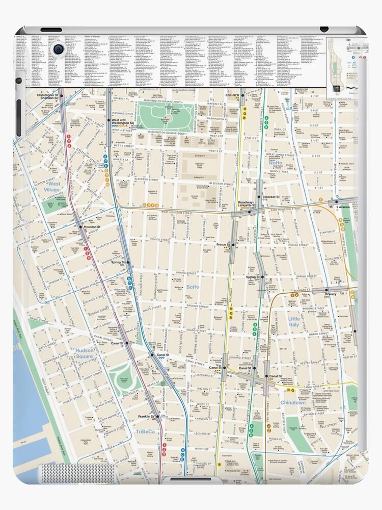 'New York City - SoHo / TriBeCa Map - HD' iPad Case/Skin by superfunky