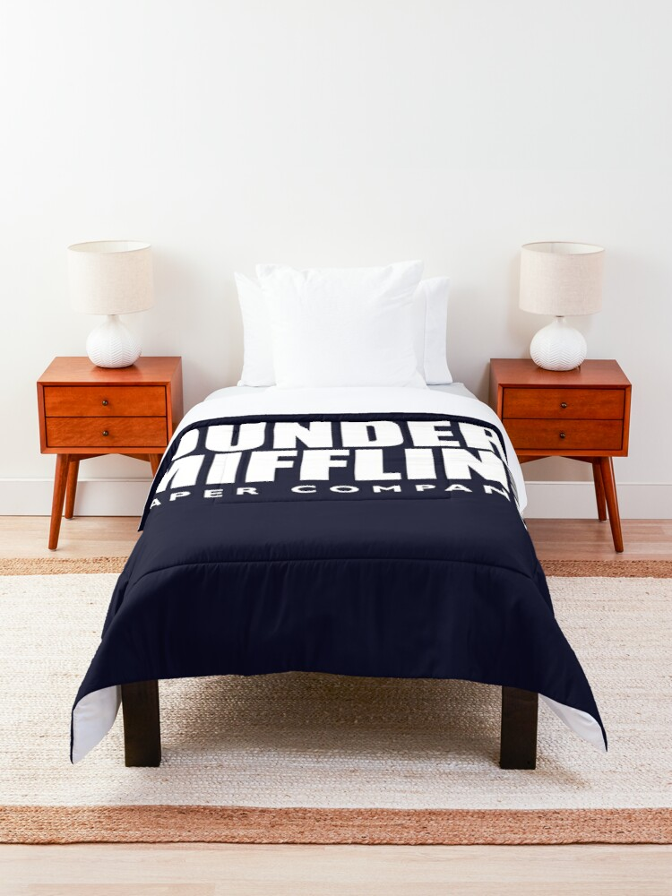 Alternate view of The Dunder Office Mifflin Inc. Design, T-Shirt, tshirt, tee, jersey, poster, Original Funny Gift Idea, Dwight Best Quote From Comforter