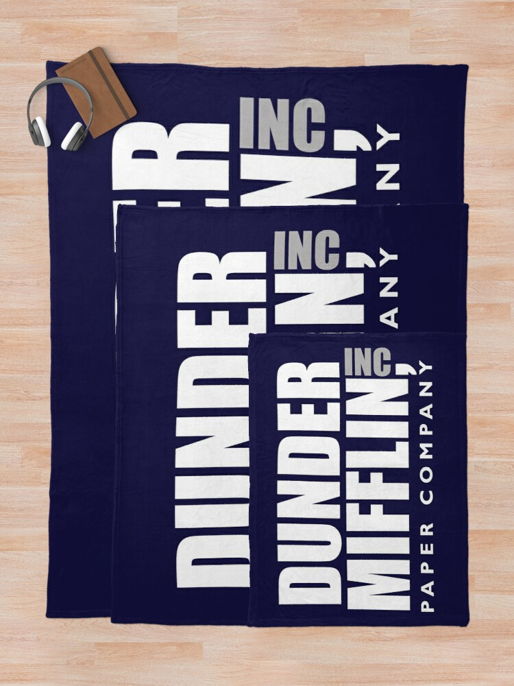 Alternate view of The Dunder Office Mifflin Inc. Design, T-Shirt, tshirt, tee, jersey, poster, Original Funny Gift Idea, Dwight Best Quote From Throw Blanket