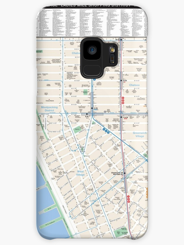 New York City West Village Map Hd Cases Skins For Samsung