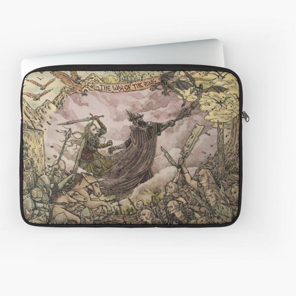 Eowyn and the Witch King of Angmar Laptop Sleeve