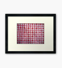 closeup pattern texture of general traditional textile style native from fabric  Framed Print