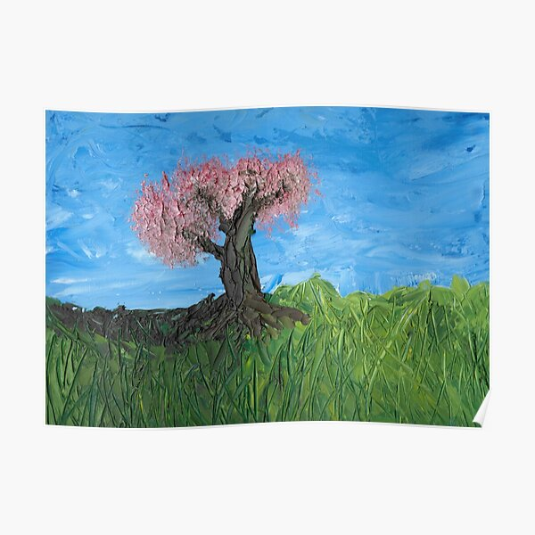 The Pink Broccoli Tree In Spring Poster