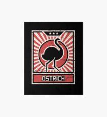 Ostrich Farmer - Gift For Ostrich Breeders Art Board