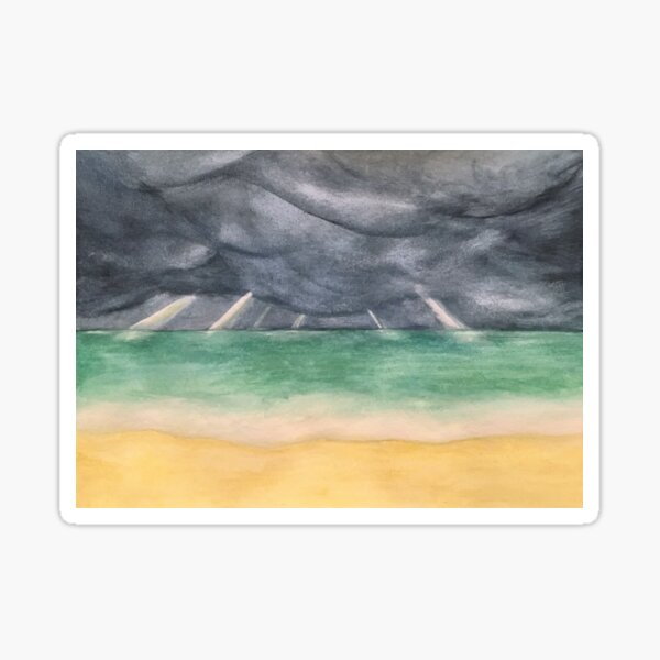 Calm Between the Storms - original painting by mjh, 09-08-2018 Sticker