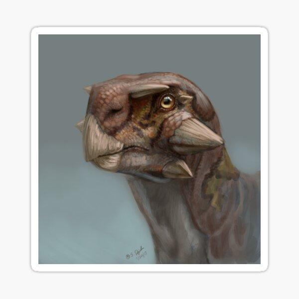 Tiny Psittacosaurus Portrait Sticker