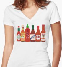 Hot Sauce Fitted V-Neck T-Shirt