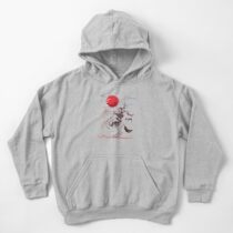 The Red Moon Rises  Kids Pullover Hoodie