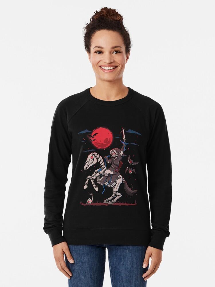 Alternate view of The Red Moon Rises  Lightweight Sweatshirt