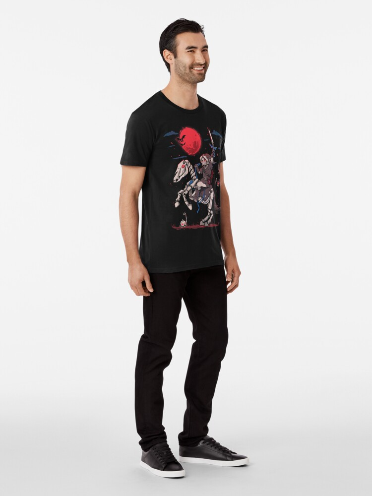 Alternate view of The Red Moon Rises  Premium T-Shirt