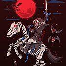 The Red Moon Rises  by TechraNova