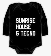 Techno Long Sleeve Baby One-Piece