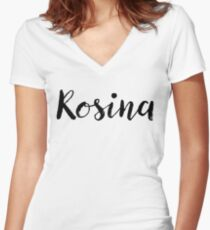 Rosina - Custom Wife Daughter Girl Stickers Shirts Women's Fitted V-Neck T-Shirt