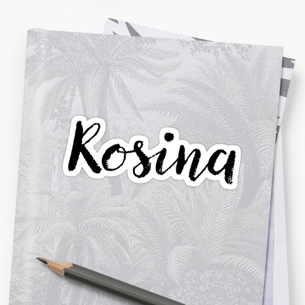 Rosina - Custom Wife Daughter Girl Stickers Shirts by stamaigra