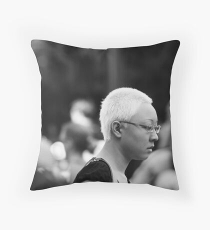 One in the Crowd Throw Pillow