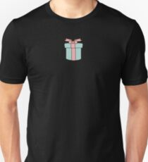Christmas Present with Ribbon Unisex T-Shirt
